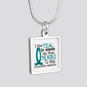 Scleroderma MeansWorldToMe Silver Square Necklace