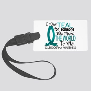 Scleroderma MeansWorldToMe1 Large Luggage Tag