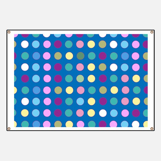 Polka Dots on Turquoise Banner