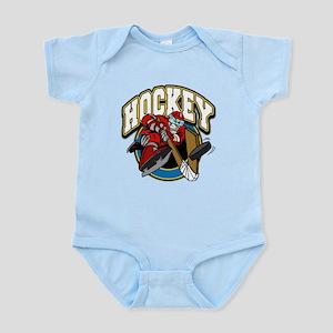 Crazy Hockey Player Infant Bodysuit