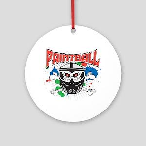 Paintball Skull and Cross Bones Ornament (Round)