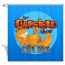Garfield Show Logo Shower Curtain