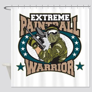 Extreme Paintball Warrior Shower Curtain