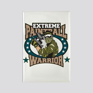 Extreme Paintball Warrior Rectangle Magnet Magnets