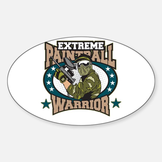 Extreme Paintball Warrior Sticker (Oval)