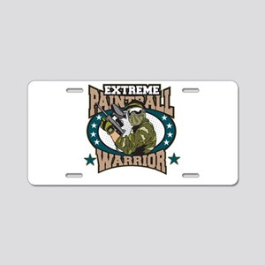 Extreme Paintball Warrior Aluminum License Plate