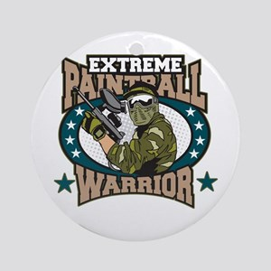 Extreme Paintball Warrior Ornament (Round)