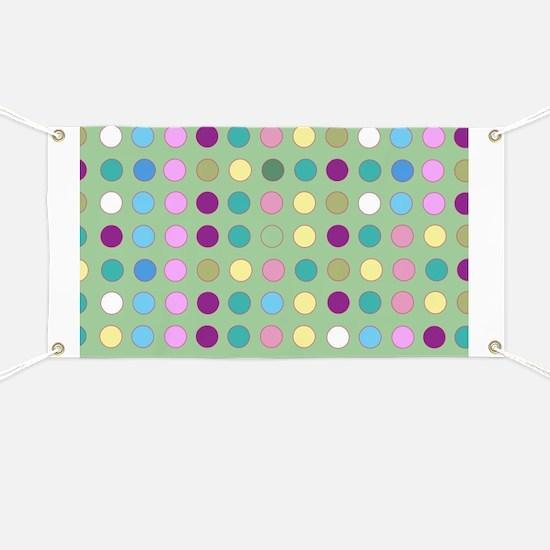 Polka Dots on Mint Banner