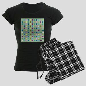 Polka Dots on Mint pajamas