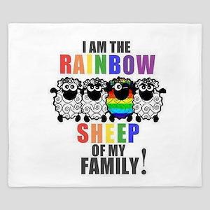 Rainbow Family Sheep King Duvet