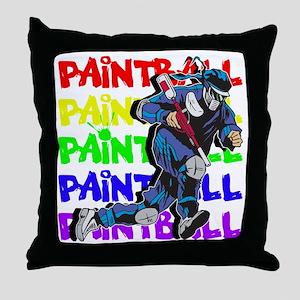 Paintball Player Throw Pillow