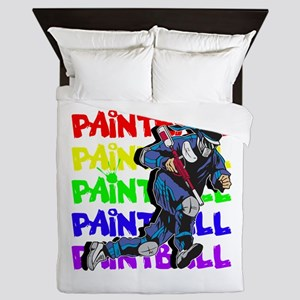 Paintball Player Queen Duvet