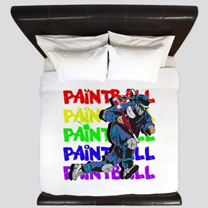 Paintball Player King Duvet