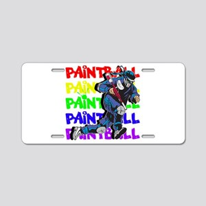 Paintball Player Aluminum License Plate