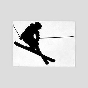 Skifahrer 5'x7'Area Rug