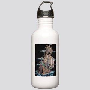 Galleon On Velvet Water Bottle
