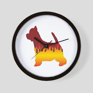 Westy Flames Wall Clock