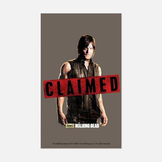 Daryl Dixon Claimed Sticker (Rectangle)
