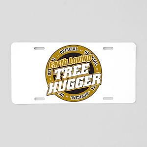 Earth Loving Tree Hugger Aluminum License Plate