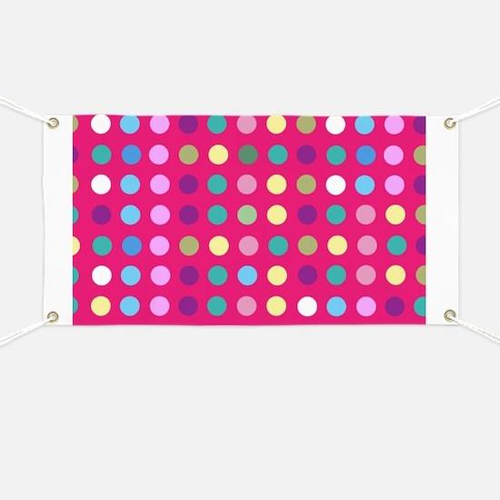 Polka Dots on Hot Pink Banner