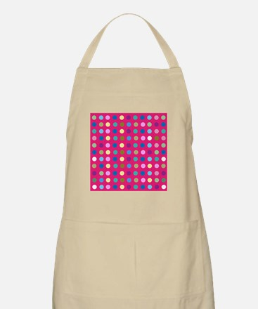 Polka Dots on Hot Pink Apron