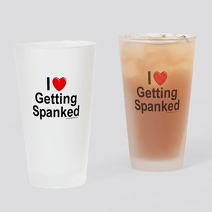 Getting Spanked Drinking Glass