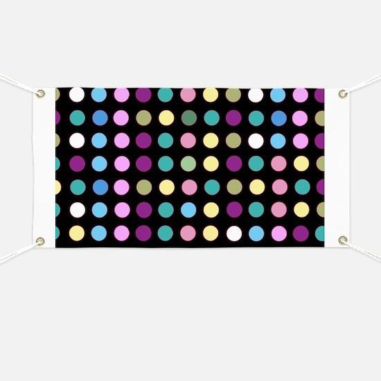 Polka Dots on Black Banner