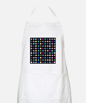 Polka Dots on Black Apron