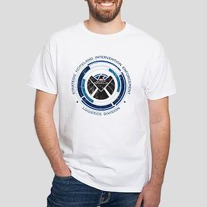 Distressed Shield White T-Shirt
