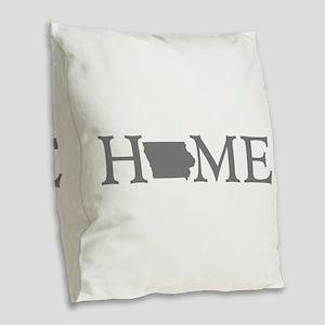 Iowa Home Burlap Throw Pillow
