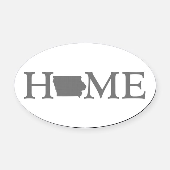 Iowa Home Oval Car Magnet
