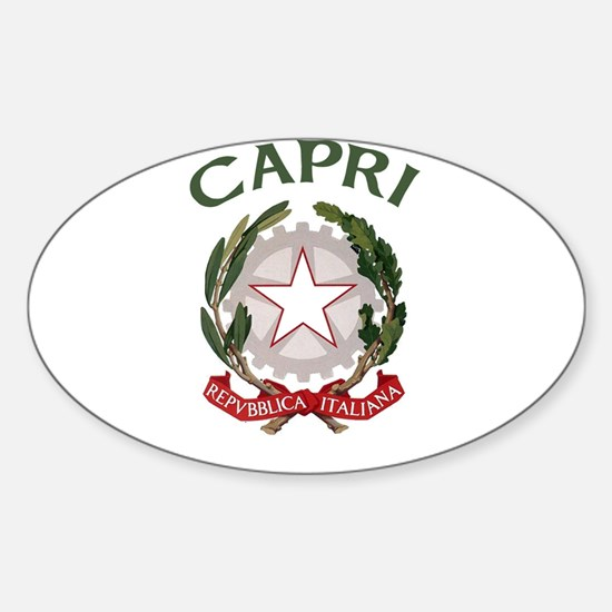 Capri, Italy Oval Decal