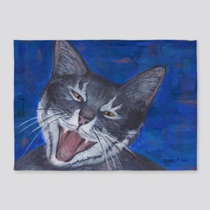 Happy Cat Gracie 5'x7'Area Rug