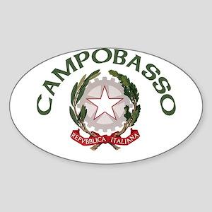 Campobasso, Italy Oval Sticker