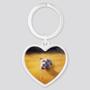 Dogfire Heart Keychain