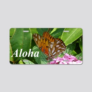 Passion Vine Butterfly Aluminum License Plate