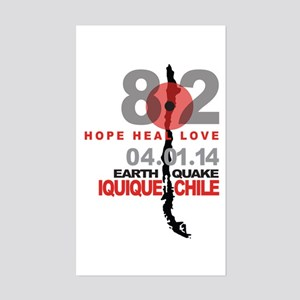 Chile Hope Heal Love Iquique Earthquake Sticker
