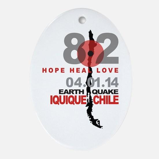Chile Hope Heal Love Iquique Earthquake Ornament (
