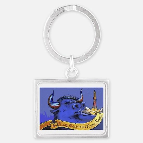 Funny Bull Landscape Keychain
