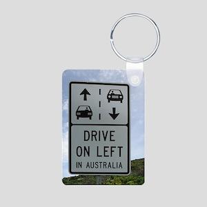 Drive on Left in Australia Aluminum Photo Keychain
