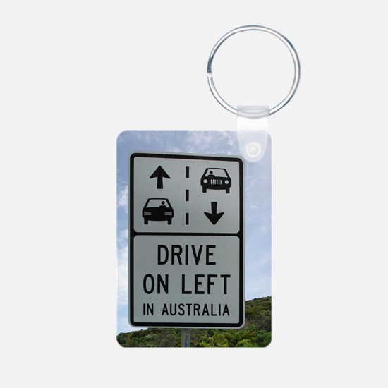 Drive on Left in Australia Keychains