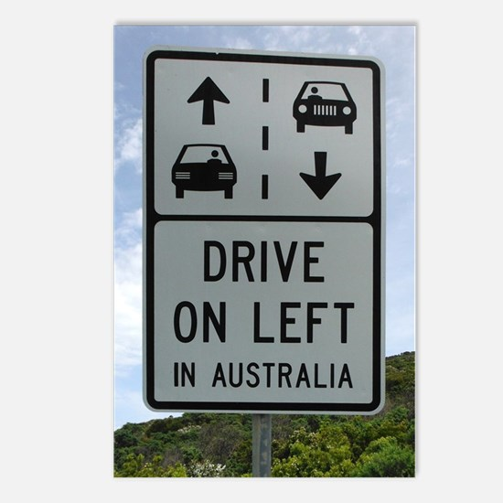 Drive on Left in Australi Postcards (Package of 8)