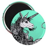 Green Dappled Unicorn Magnet