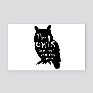 Twin Peaks The Owls Are Not W Rectangle Car Magnet