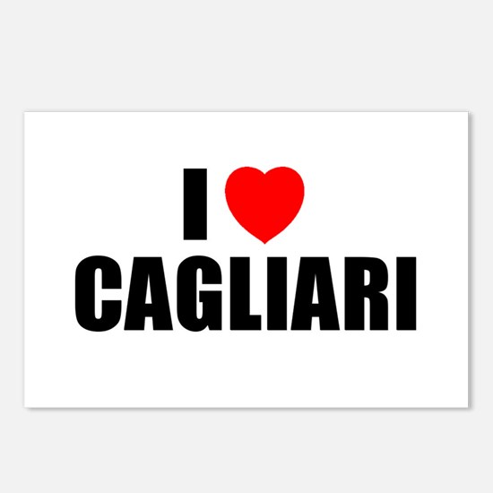 I Love Cagliari, Italy Postcards (Package of 8)