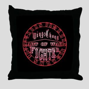 wing chun art of war Throw Pillow