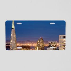 san francisco skyline at ni Aluminum License Plate