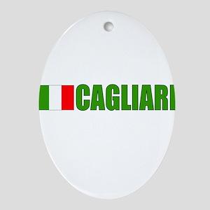 Cagliari, Italy Oval Ornament