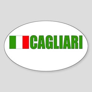Cagliari, Italy Oval Sticker