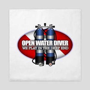 Open Water Diver (Scuba Tanks) Queen Duvet